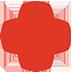 The plus symbol portion of the populus logo