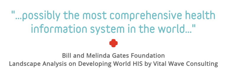 "Quote Block: ""possibly the most comprehensive health information system in the world"" - Bill and Melinda Gates Foundation, Landscape Analysis on Developing World HIS by Vital Wave Consulting"